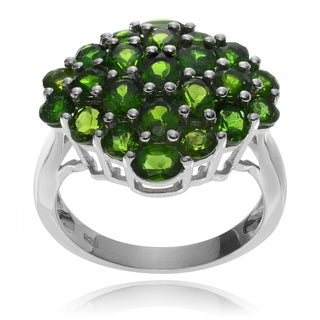 Journee Collection Sterling Silver Chrome Diopside Ring