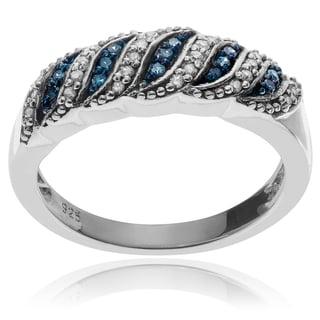 Journee Collection Sterling Silver 3/8 TDW Diamond Ring