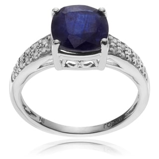 Journee Collection Sterling Silver Sapphire Topaz Ring