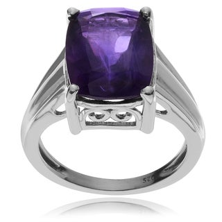 Journee Collection Sterling Silver African Amethyst Ring
