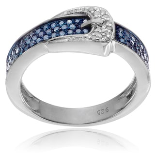 Journee Collection Sterling Silver 4/5 TDW Diamond Belt Ring