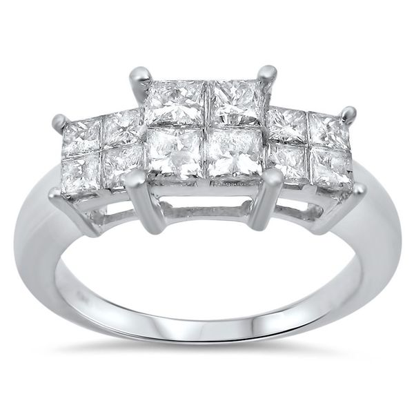 Shop Noori 14k White Gold 1ct Tdw Princess Cut Quad 3