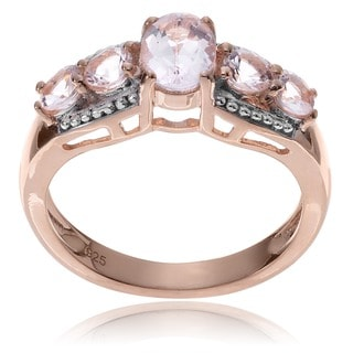 Journee Collection 14k Rose Goldplated Sterling Silver Pink Morganite Ring