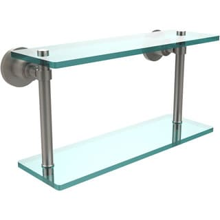 Washing Square Collection 16-inch Two Tiered Glass Shelf