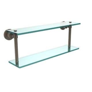 Washing Square Collection 22-inch Two Tiered Glass Shelf