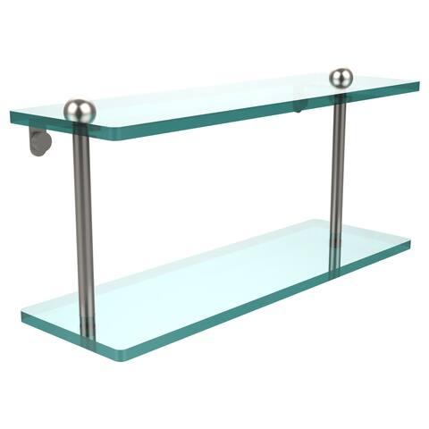 16-inch Two Tiered Glass Shelf