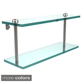 16-inch Two Tiered Glass Shelf