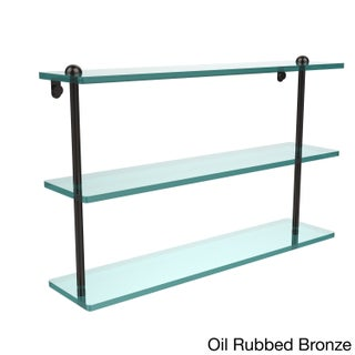 22-inch Triple Tiered Glass Shelf (More options available)