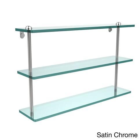 22-inch Triple Tiered Glass Shelf