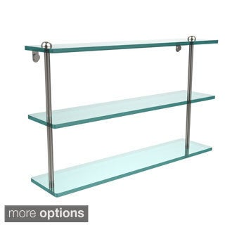 22-inch Triple Tiered Glass Shelf