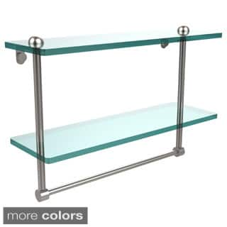 16-inch Two Tiered Glass Shelf with Integrated Towel Bar|https://ak1.ostkcdn.com/images/products/10373102/P17479317.jpg?impolicy=medium