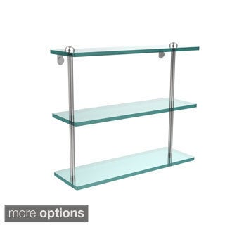 16-inch Triple Tiered Glass Shelf