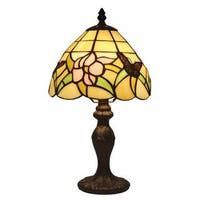 Amora Lighting Tiffany Style Floral Design 15-inch Table Lamp