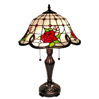 Amora Lighting Tiffany-style Floral 24-inch Table Lamp