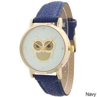 Olivia Pratt Women's Sparkly Goldtone Owl Watch