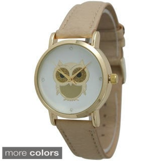 Olivia Pratt Women's Sparkly Goldtone Owl Watch