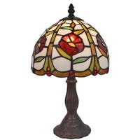 Amora Lighting Tiffany-style Floral Design 15-inch Table Lamp