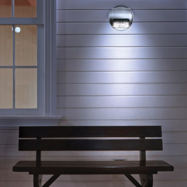 sharper image wireless led porch light free shipping on orders over. Black Bedroom Furniture Sets. Home Design Ideas