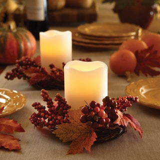 Order Home Collection 2-piece Harvest Wreath with LED Candles