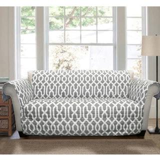 shop lush decor chevron sofa furniture protector slipcover free rh overstock com sofa furniture protector walmart sofa furniture protector walmart