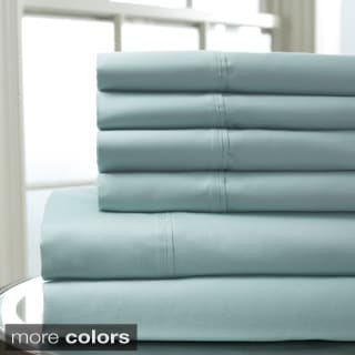 500 Thread Count Cambria Cotton Rich 6-piece Solid Sheet Set