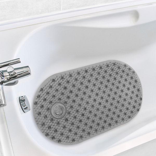 Shop Antimicrobial Hair Catcher Bath Tub Mat On Sale