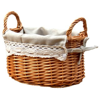 Small Basket with Lace Trim