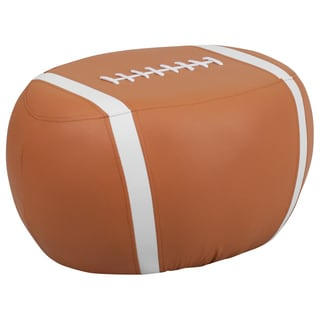 Brown White Kid Football Stool