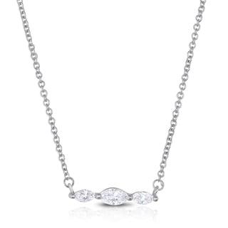 Eloquence 14k White Gold 1/3ct TDW Diamond Pendant (H-I, I1-I2)