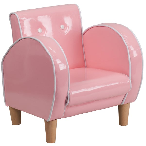 Kids plastic pink chair free shipping today overstock for Pink kids chair