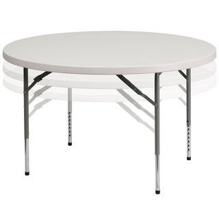 White Plastic 48-inch Folding Table
