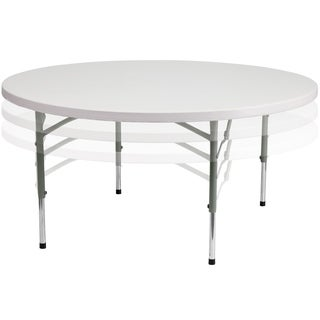 White Plastic 60-inch Folding Table