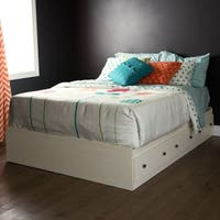 South Shore Furniture Country Poetry White Wood Full Mates Bed with 3 Drawers