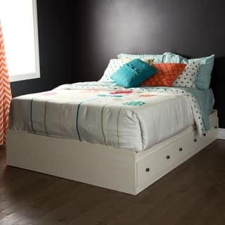 South S Furniture Country Poetry White Wood Full Mates Bed With 3 Drawers