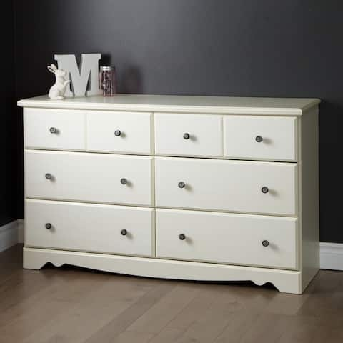 South Shore Country Poetry 6-Drawer Double Dresser