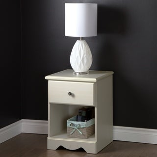 South Shore Country Poetry 1-Drawer Night Stand