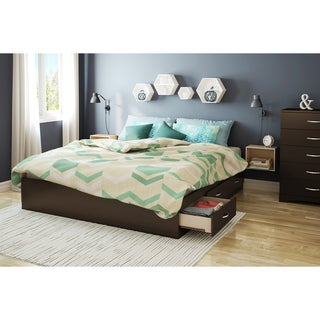 South Shore Step One Platform Bed with 6 Drawers