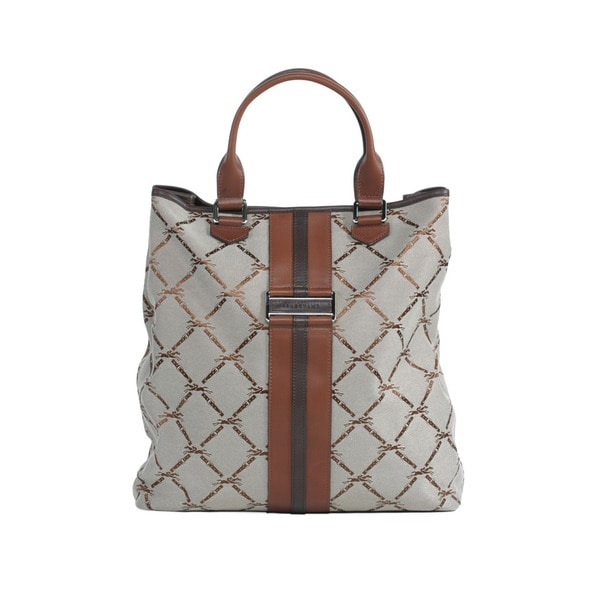 Longchamp Brown LM Jacquard NS Shoulder Tote
