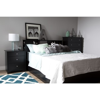 South Shore Vito Nightstand with Charging Station and Drawers
