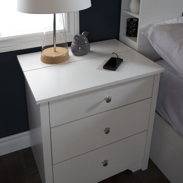 south shore vito nightstand with charging station and drawers free shipping today