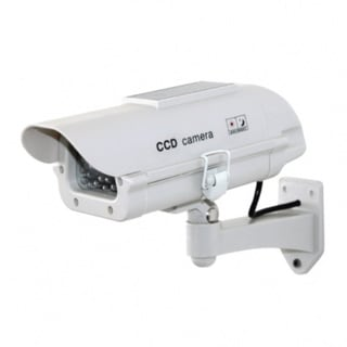 7-inch Outdoor Housing Dummy Security Camera with Solar Powered Light