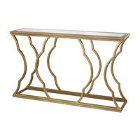 LS Dimond Home Brown Metal Cloud Console