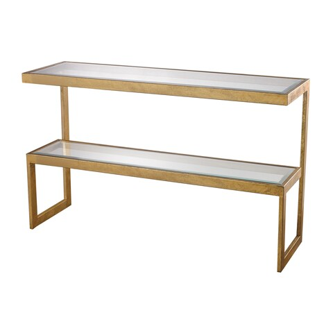 LS Dimond Home Gold Leaf Key Console