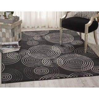 Nourison Studio Black Rug (7'10 x 10'6)