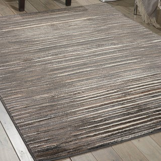 Nourison Studio Ivory Grey Rug (5'3 x 7'3)