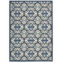 Waverly Sun N' Shade Tipton Celestial Indoor/ Outdoor Area Rug by Nourison - 7'9 x 10'10