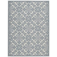Waverly Sun N' Shade Lace It Up Aquarium Indoor/ Outdoor Area Rug by Nourison - 7'9 x 10'10
