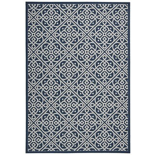 Waverly Sun N Shade SND31 Indoor/Outdoor Area Rug (53 x 75 - Dark Blue)