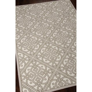 Waverly Sun N' Shade Lace It Up Stone Area Rug by Nourison (5'3 x 7'5)