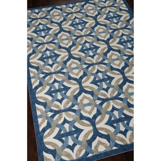 Waverly Sun N' Shade Tipton Celestial Outdoor Rug by Nourison (5'3 x 7'5)